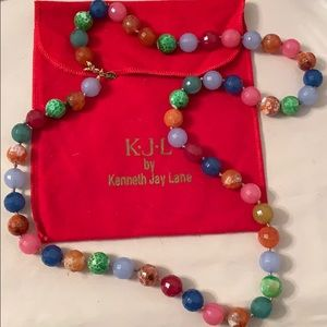Kenneth Jay Lane semi-precious stone necklace